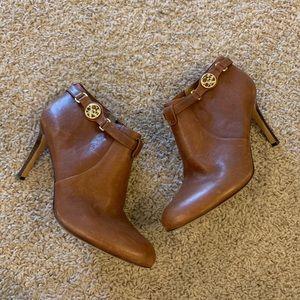 Coach Women's 'Salene' Leather Brown Boots Sz 9.5